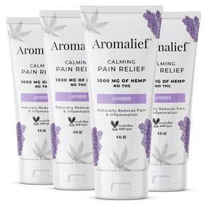 Aromalief Vegan Pain Relief Cream Mild Scent - 4oz