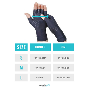 Workvie Copper Compression Gloves for Hand Pain Relief