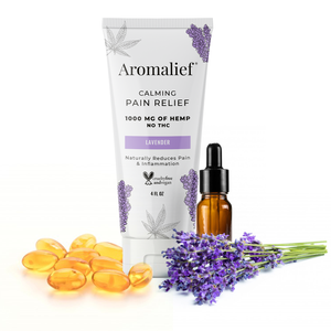 Aromalief Hemp Pain Relief Cream Sensitive with Lavender and Nuttrients