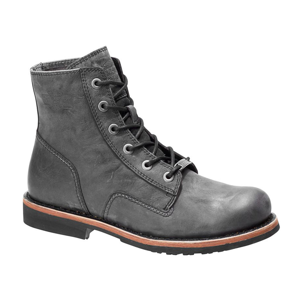 Harley-Davidson Men's Burdon Grey Lace-Up Motorcycle Boots D93596