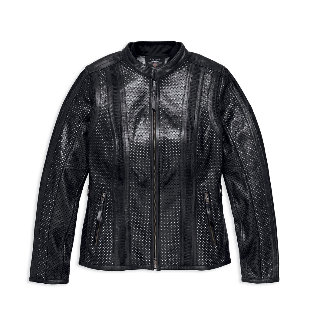Harley-Davidson® Women's Venos Perforated Leather Jacket w/ Coolcore  97010-18VW