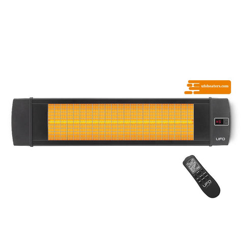 UFO blackline electric infrared heater with remote control