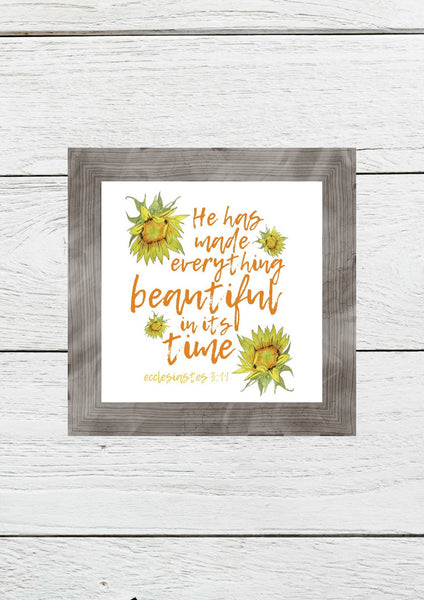 """Everything Beautiful"" Printable Wall Art"