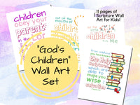 """God's Children"" Scripture Wall Art Set {11 pages}"