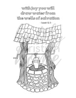 Wells of Salvation Coloring Page