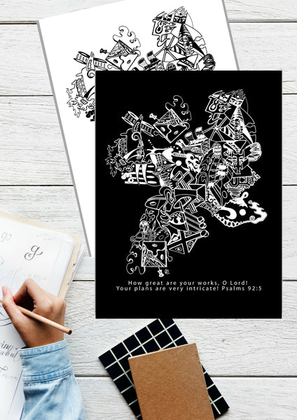 """Your Plans are Intricate"" Coloring Set {2 pages}"