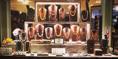Our jewelry retail display at Grand Central in NYC