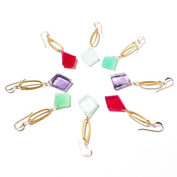 Paperclip Earrings - SASKIA