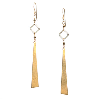 Pyrite Cutout Earrings - SASKIA