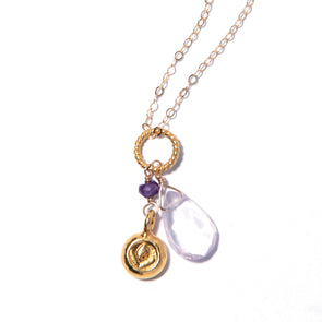 Amethyst Gold Fancy Chain - SASKIA