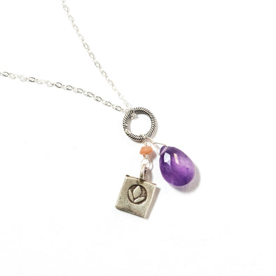 Amethyst Silver Fancy Chain - SASKIA