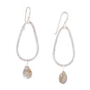 Silver Teardrop Gemstone Earrings - SASKIA
