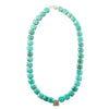 Mint is a beaded statement necklace made of vibrant amazonite. Like all SASKIA jewelry, this bold chunky necklace is handmade in our Brooklyn studio using materials from around the world.