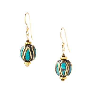 Our Nepal Mosaic Earrings are short dangle earrings. These colorful unique earrings have a boho feel and are versatile enough for every day wear. Like all SASKIA jewelry, these earrings are handmade in our Brooklyn studio using materials from around the world.