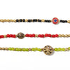 Volta is a unique beaded glass bracelet with multiple color and focal bead options. Each one is unique and one of a kind since no two stones are ever the same. These wrap stackable bracelets are bold statement pieces. Like all SASKIA jewelry, this boho bracelet is handmade in our Brooklyn studio using materials from around the world.