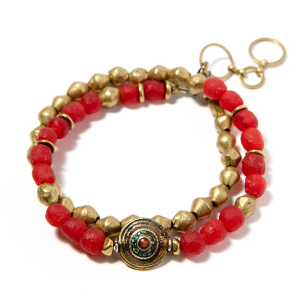 Thin Volta Bracelet Red - SASKIA