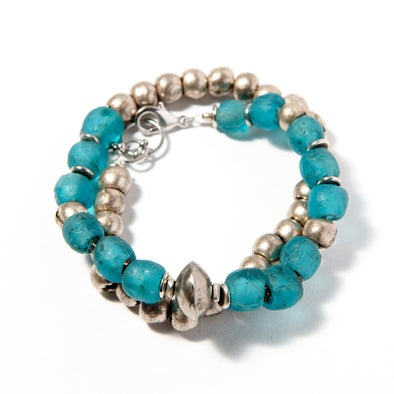 Volta Bracelet Electric Blue - SASKIA