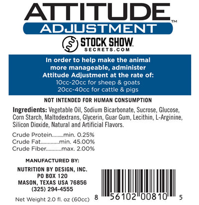 Attitude Adjustment Paste Ingredients