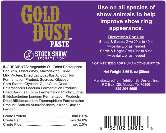 Gold Dust Ingredients