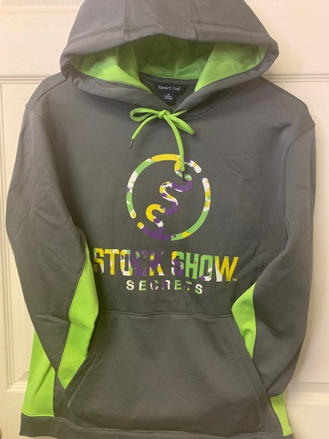 Gray and Neon Green Hoodie