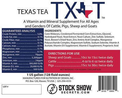 TX T (Texas Tea) Ingredients