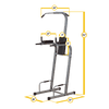 Powerline Vertical Knee Raise Chin Dip Machine