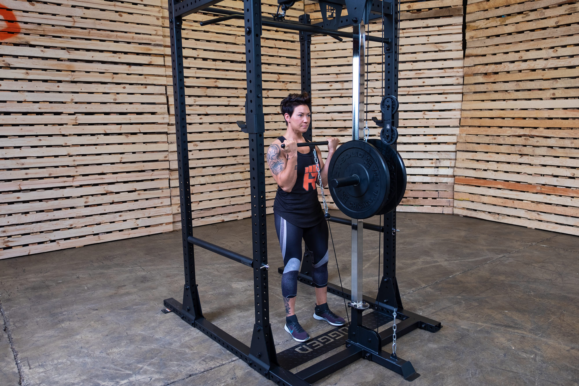 rack rugged lat attachment y100 optional included