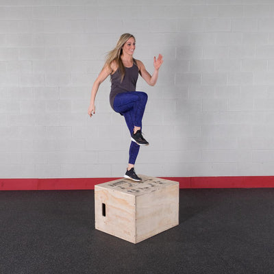 Body-Solid Tools 3-in-1 Wooden Plyo Box-Best Fitness Equipment
