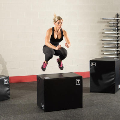Body-Solid Tools 3 Way Soft Plyometric Box Black-Best Fitness Equipment