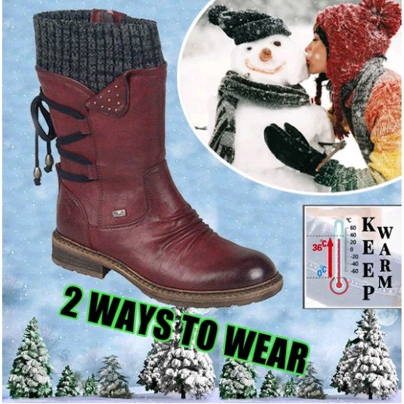 2019 New style🔥Winter Warm Back Lace Up Boots