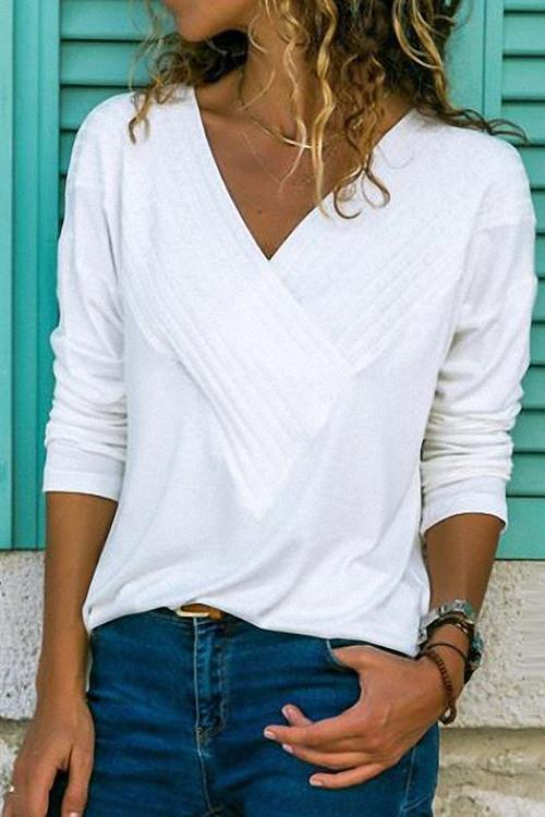 Ceridress Classic V-Neck Basic Tops T-shirt(65% OFF Today Only)