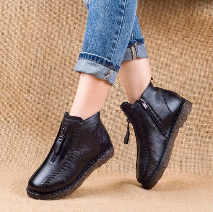 Winter Genuine Leather Ankle Boots(60% OFF-Last 2 day promotion)