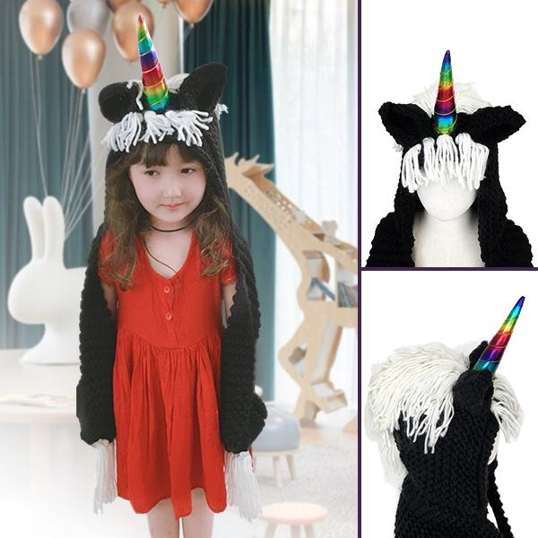 Crochet Cartoon Unicorn Winter Hat With Scarf Pocket(60% OFF-Last day promotion)