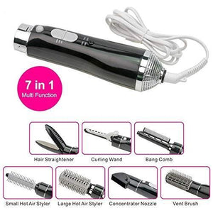 7 in 1 Ceramic Hair Dryer Rotating Curling Iron(70%  off-Last day promotion)