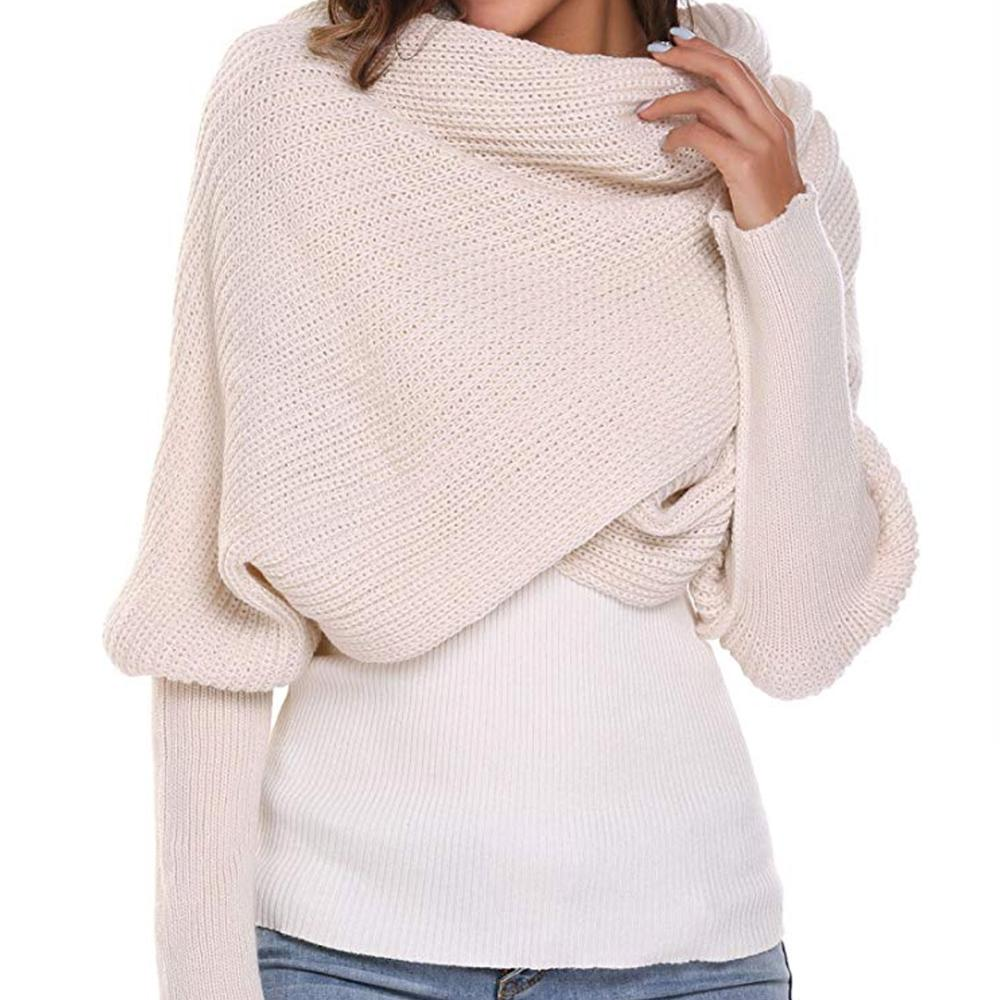 💥Buy 1 get 1 Free💥Autumn&Winter Fashion Crochet Knitted Scarf Shawl with Sleeves