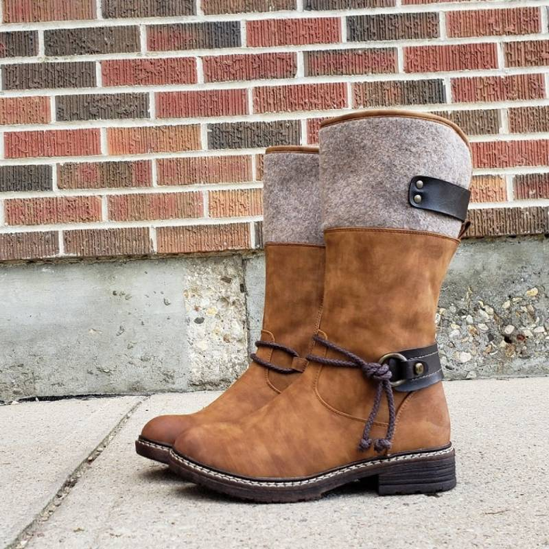 2019 HOT Comfy Low Heel Mid-calf Boots(60% OFF-Last 2 day promotion)