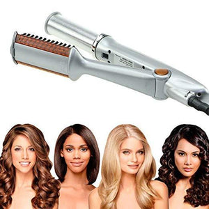 🔥60% OFF 🔥Titanium 2-Way Rotating Curling Iron/Dual-Use Straight And Curling