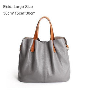 Two In One Leather Shopper Tote Bag(70% off-Last day promotion)