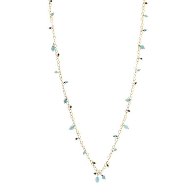 ANGELITE AND QUARTZ NECKLACE | GENNY.PI® NECKLACES - JEWELERY GENNY.PI® MILAN