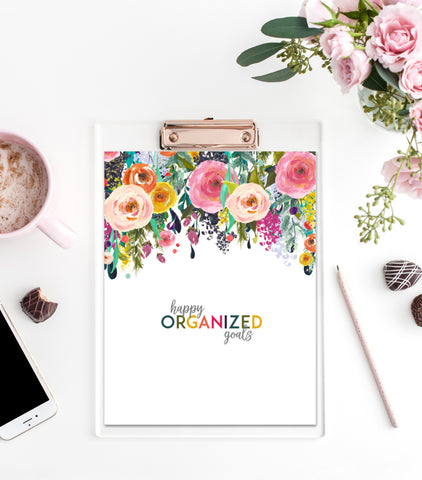 Happy Organized Goals Workbook