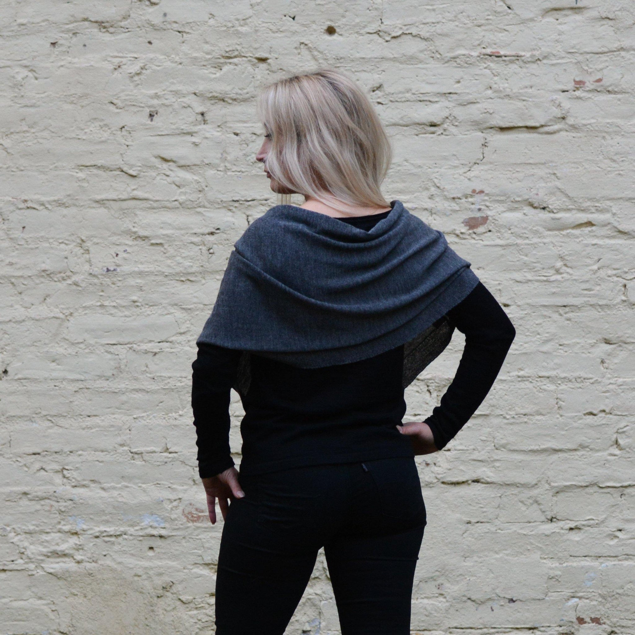 graphite cape, back