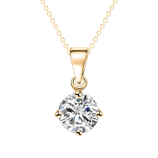 Collier Diamant Solitaire