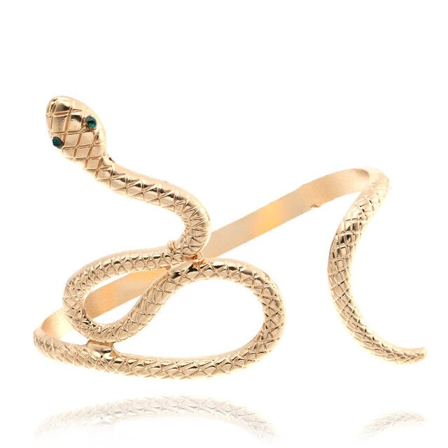 Bracelet de main serpent or