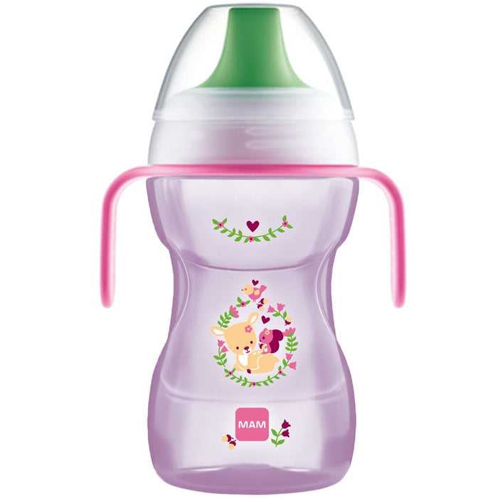 MAM Fun to Drink Cup with Handles (270 ml)-Cup-MAM-Pink-Eko Kids