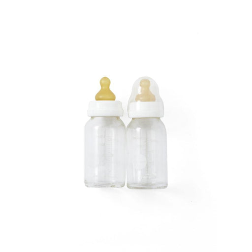 HEVEA Glass baby bottle with Natural Rubber Teat - 2 pack - 120 ml-Bottle-Hevea-Eko Kids