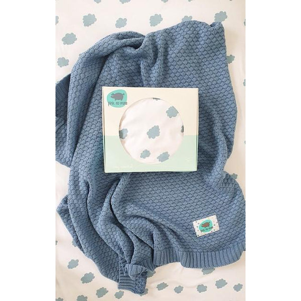 Bamboo & Cotton Bubble Blanket 100 x 80 cm-Blanket-Pink No More-Forest Green-100 x 80 cm-Eko Kids