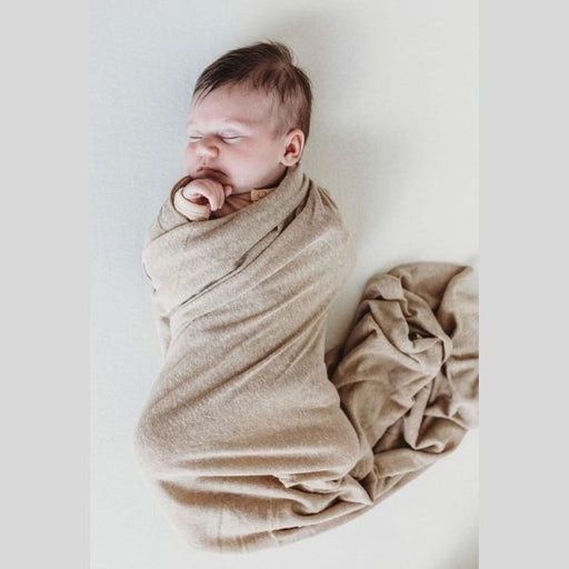 Bamboo Luxe Linen Jersey - Chai-Swaddle-Halo & Horns-Eko Kids