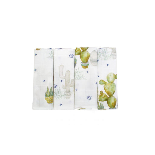Bamboo Muslin Cloths 4-pack - Tropical - Poofi - Eko Kids