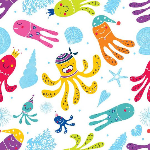 Bamboo Printed Cloth - Octopuses-Cloth-Bamboo-Line-Eko Kids