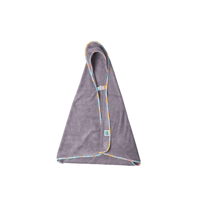 Bamboo Hooded Towel-Towel-Pink No More-Grey / Ethnic Intense-80 x 80 cm-Eko Kids